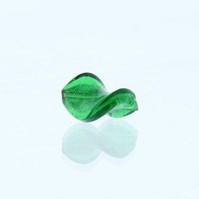 Kraal 18 mm glas - twist groen CF1\80504 4 stuks op=op