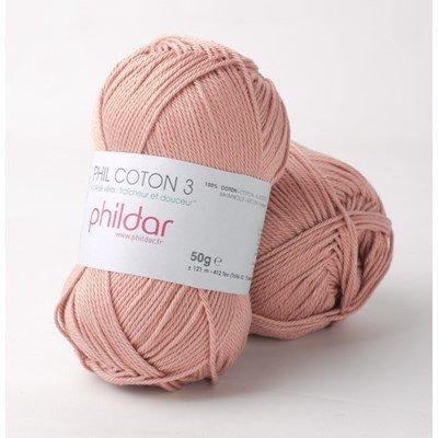 Phildar Phil coton 3 Vieux rose