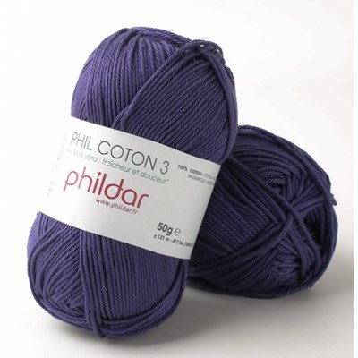 Phildar Phil coton 3 Encre op=op uit collectie