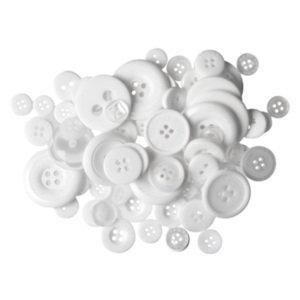 Knoop 11 mm transparant - wit