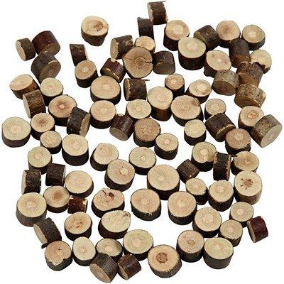 Houtschijven mix mini 7 tot 10 cm dikte 4-5 mm ca 230 gram