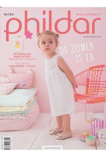 Phildar nr 154 lente zomer 2018 - 25 modellen voor baby en peuter (op=op uit collectie)