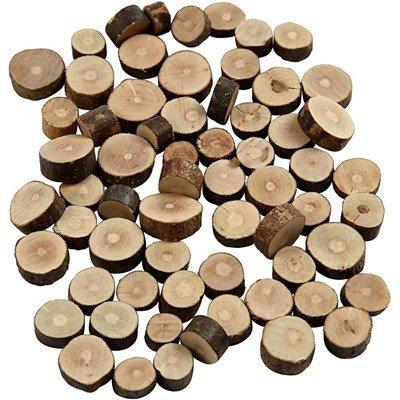 Houtschijven mix mini 10 tot 15 cm dikte ca 5 mm ca 230 gram