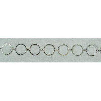 ketting 14 mm kleur zilver 0,75 meter
