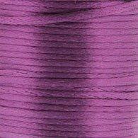 Satijnkoord 3 mm 035 donker oud paars - Kumihimo 5 mtr