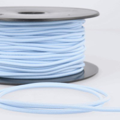 Elastiek koord 3 mm - blauw baby 4,95 meter