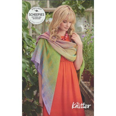 Leaflet the knitter crochet between the lines shawl - engels