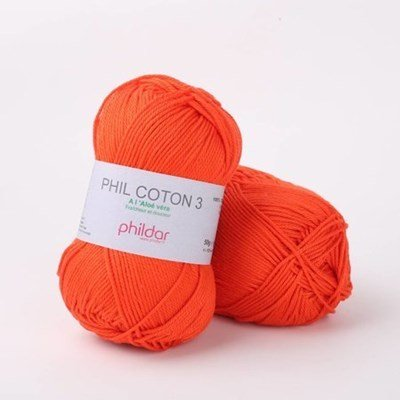 Phildar Phil coton 3 Vermillon