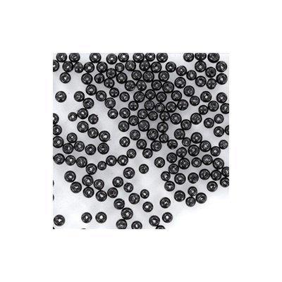 Glasparels 8 mm zwart ca 50 stuks