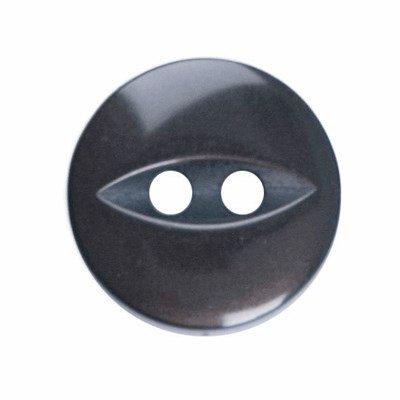 Knoop 11 mm donker anraciet