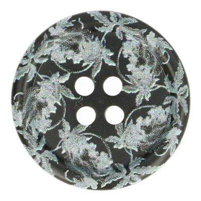 Knoop 18 mm grijs kantprint
