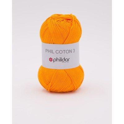 Phildar Phil coton 3 Mandarine
