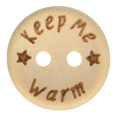 Knoop 20 mm houtlook - keep me warm