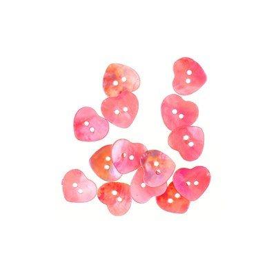 knoop 15 mm hart parelmoer roze