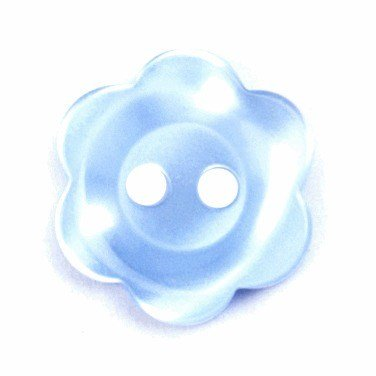 Knoop 20 mm bloem licht blauw