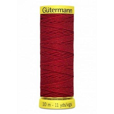 Gutermann elastiek 2063 rood 10 meter
