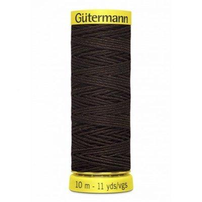 Gutermann elastiek 4002 bruin 10 meter