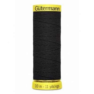 Gutermann elastiek 4017 zwart 10 meter