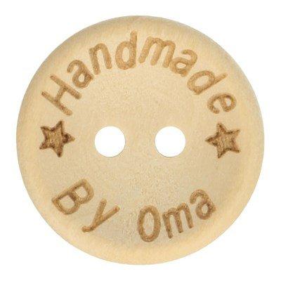 Knoop 15 mm houtlook handmade by oma