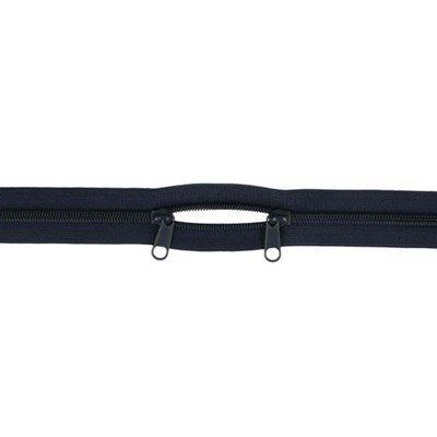 rits 60 cm met twee schuivers 210 donker blauw
