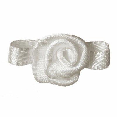 Roosjes gebroken wit met recht blad 20 a 15 mm 10 stuks