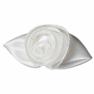 Roosjes room wit blad 30 a 20 mm 10 stuks