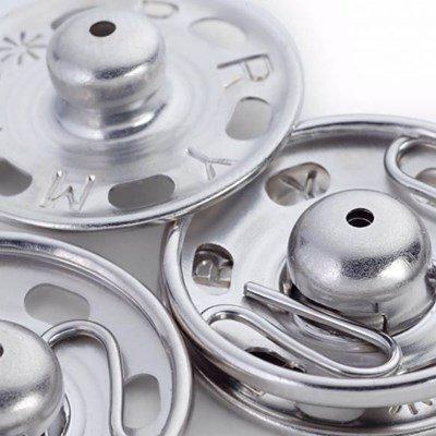 Drukknoop 13-14 mm zilver 6 stuks