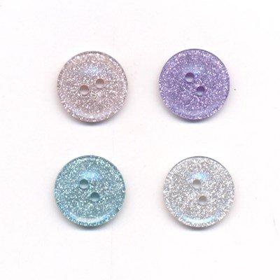 Knoop 15 mm glitter lila