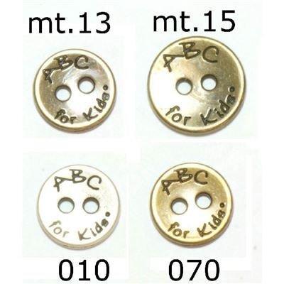 Knoop 15 mm metaal zilver ABC for kids