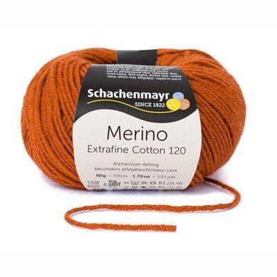Schachenmayr Merino Extrafine Cotton 120 - 512 roest oranje op=op