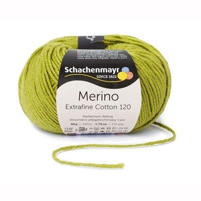 Schachenmayr Merino Extrafine Cotton 120 - 572 linde groen op=op