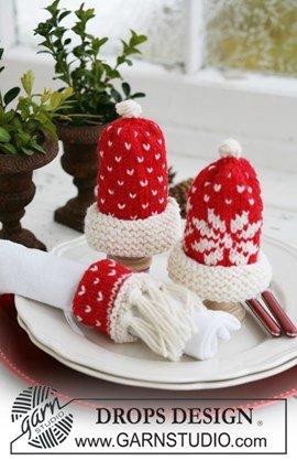 DROPS eierwarmers en servetring met ....