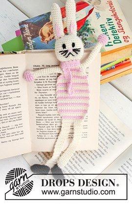 Gehaakte DROPS Paashaas boekenlegger ....