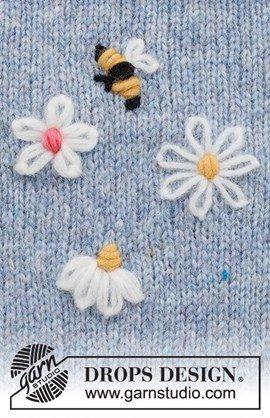 Borduurpatroon bloemen en bij Bee ....