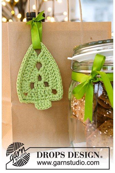 Haakpatroon Kerstboom hanger