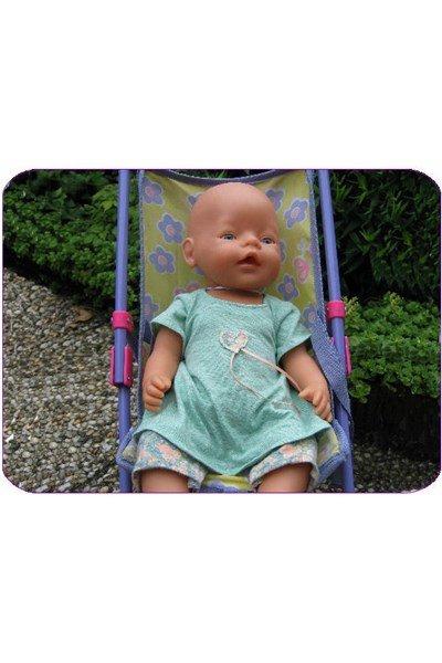 Naaipatroon Babyborn jurkje legging