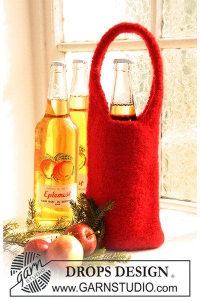 Viltnaald patroon Gevilte flessenkoeler