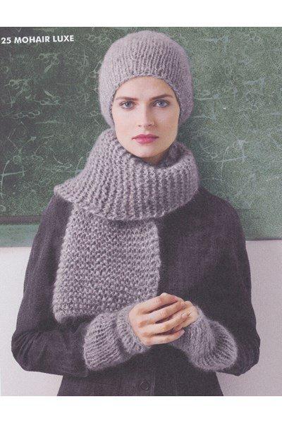 Breipatroon Muts, polswarmers en sjaal