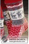 Breipatroon Gebreide sokken met Noors patroon van andere kant