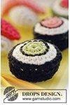 Haakpatroon Sushi en maki met wasabi  van andere kant