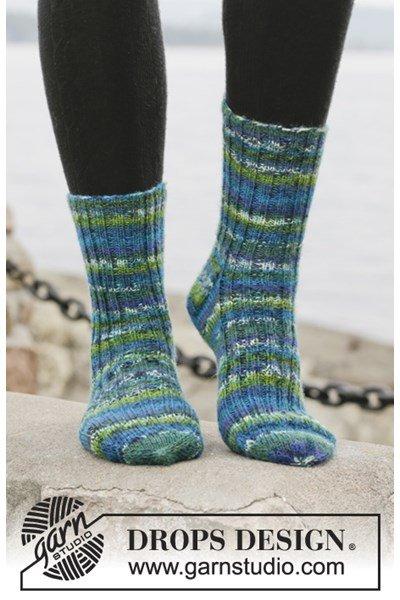 Breipatroon Gebreide sokken met boordsteek van Fabel. Maat 15 - 46