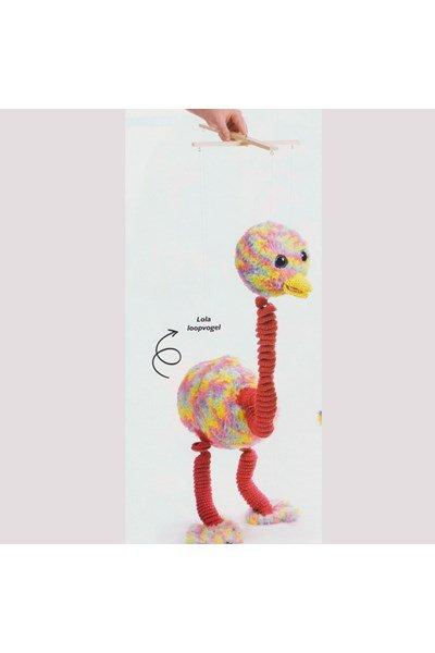 Haakpatroon Marionet Loopvogel