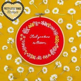 Borduurpatroon voor een bloemenhanger, ....