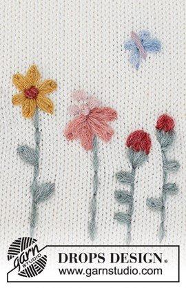 Borduurpatroon Floral love met bloemen ....