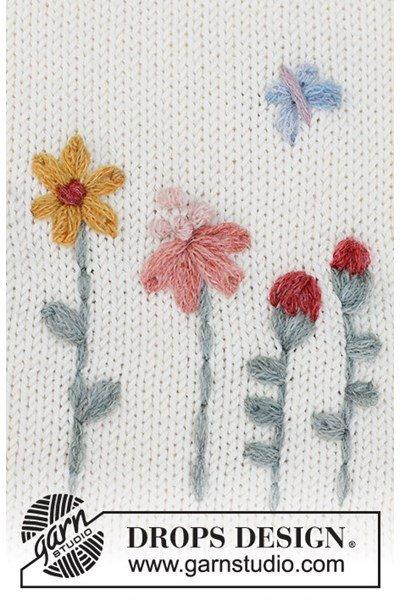Borduurpatroon Borduurwerk bloemen