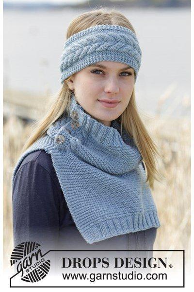 Breipatroon Gebreide hoofdband en halswarmer