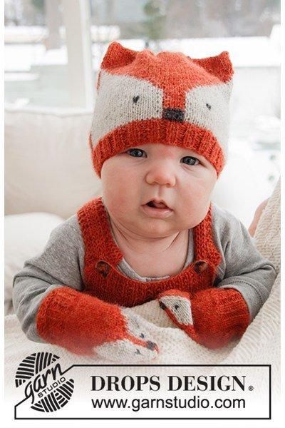 Breipatroon Babymuts en wanten vos