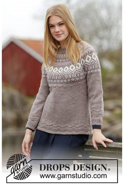 Breipatroon Gebreide getailleerde trui