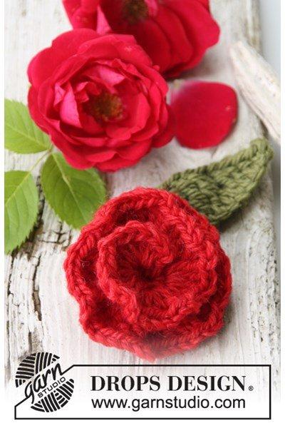 Haakpatroon Gehaakte roos van Nepal