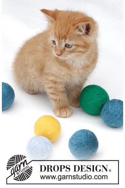 Viltnaald patroon Gevilte ballen kat
